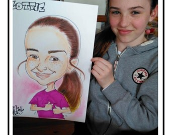 Hand drawn caricatures