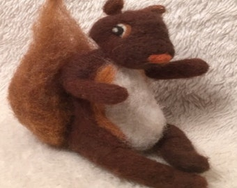 Kit: Needle Felted Mr. Squirrel
