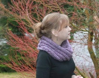 Ribbed Infinity Scarf - Hand Knit