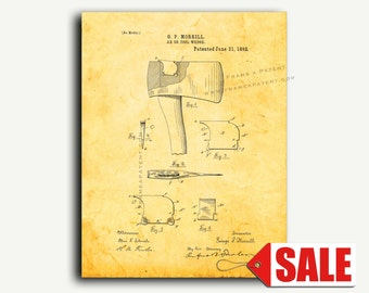 Patent Print - Ax Or Tool Wedge Patent Wall Art Poster
