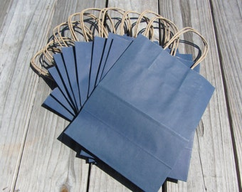 50 Pack Navy Blue Gift Bags/Wedding Welcome Bags