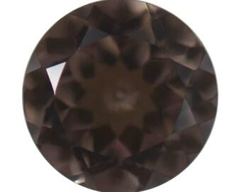 Charcoal Coated Quartz Loose Gemstone Round Cut 7mm TGW 1.05 cts.