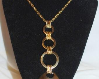 Vintage  Grosse Pendant  Necklace Signed  Germany 1970
