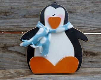 Winter Decor- Snow Decor- Penguin Decor- Christmas Decor- Penguin door hanger