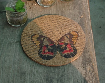 original coaster, butterfly design, free shipping