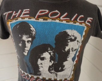 Size S+ (42) ** Authentic 1983 The Police Concert Shirt (Double Sided)