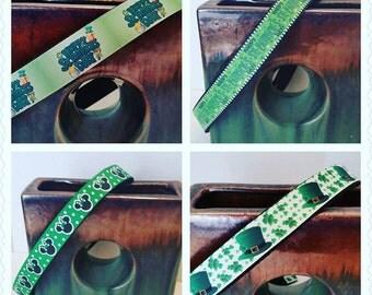 Saint Patrick's day dog collar