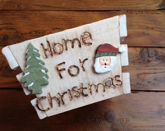 Cesto in legno Home For Christmas