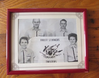 Framed Bowling Team Photo