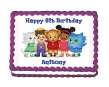 Daniel Tiger/Katerina Kitty Cat Edible Cake Topper with FREE Personalization