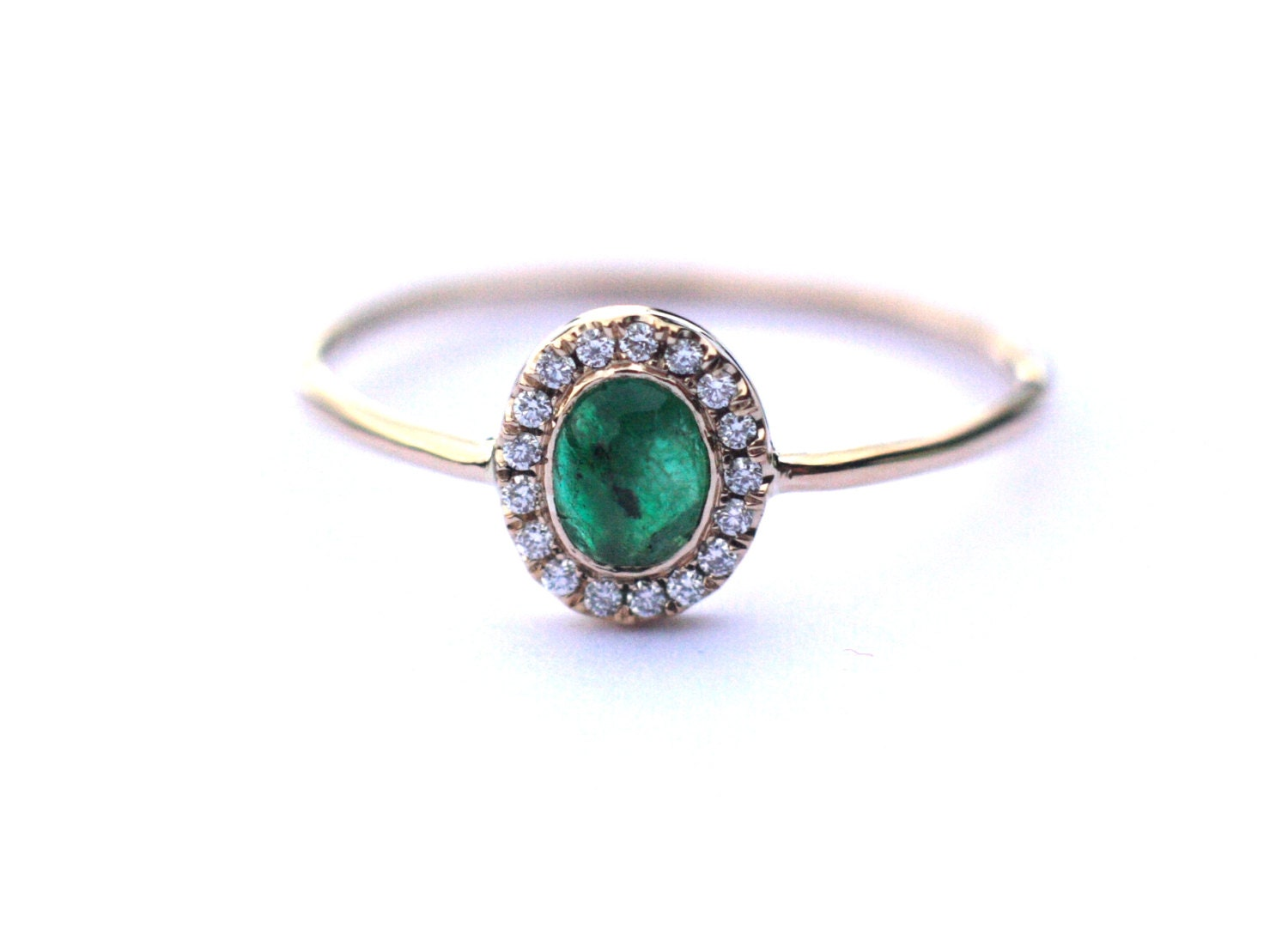 halo emerald ring halo engagement ring emerald and