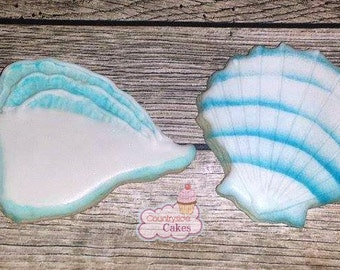 Seashell Decorated Sugar Cookies  -1 dozen
