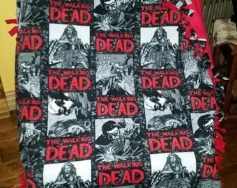 The Walking Dead blanket