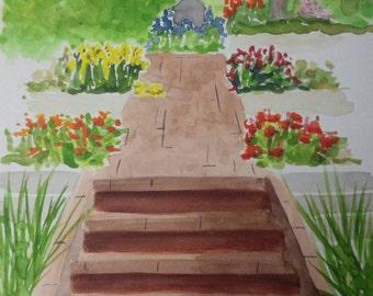 Denver Botanic Gardens #1 Original watercolor