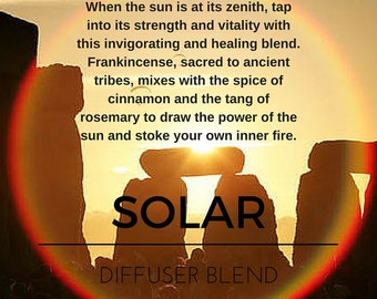 Solar Essential Oil Blend for Diffusing