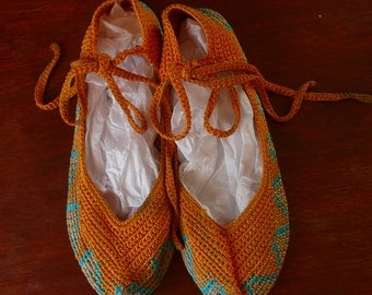 Crocheted Flat Shoes