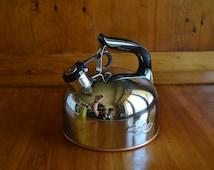 Vintage Revere Ware Whistling Tea Kettle