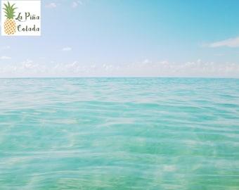 Ocean Print Beach Print Blue Waves Sky Tropical Seascape Photography Fine Art Printable Photo Digital Download Wall Art Home Decor *Light*