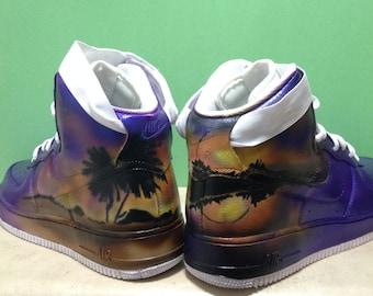Custom Nike Air Force 1, Men's Sneakers, size 9, Custom Painted Sneakers, Custom Sneakers