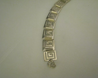 Unique Sterling Silver Bracelet with Linked Squares
