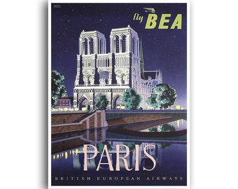 Paris Art Print French Home Decor Travel Poster (XR1007)