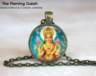 LAKSHMI Pendant • Hindu Goddess • Goddess of Wealth • Indian Godess • Goddess of Fortune • Gift Under 20 • Made in Australia (P0685)