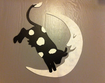 Cow Jumping Over The Moon Metal Wall Art