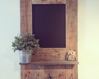 Entryway Chalkboard Shelf
