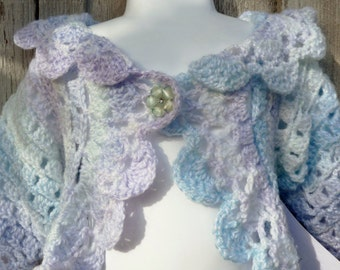 Blue and Lavendar Ombre Woodland Fairy Sweater