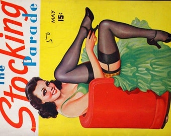 1938 The Stocking Parade Magazine Vol. 1, No. 10 May Pinup Girlie Vintage