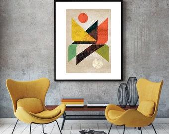 Triangle art, modern wall art, abstract art, modern decor, minimalist print, geometric, giclee print, original artwork, modern art