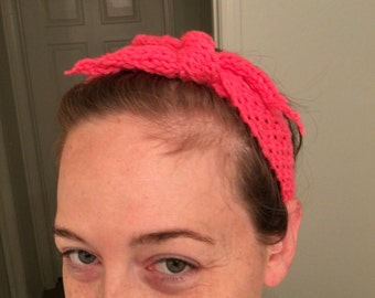 Knotted Crochet Headband for Adult and Baby
