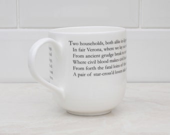 Romeo and Juliet Literary Giant Bone China Mug