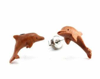 Pair of Dolphin Stud Earrings