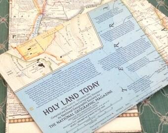 2 Vintage Holy Lands Maps