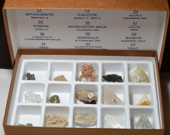 Handmade Junior Mineral Collection, Labelled and Boxed