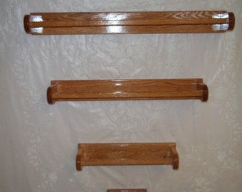Handmade Wooden Towel Bar and Toilet Paper Roll Holder