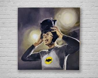 West's Mask - Adam West Superhero Batman's Cowl Canvas Art Print