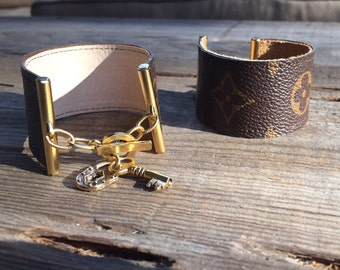 Handmade LV inspired charm bracelet