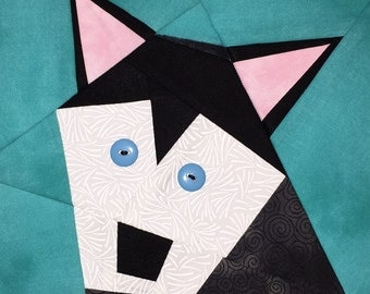 Husky Paper Pieced Block Pattern in PDF