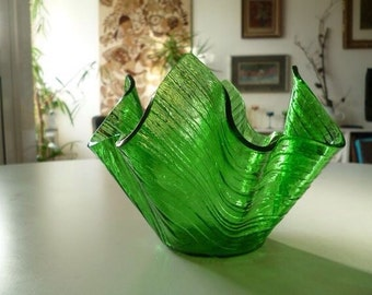 Chance Green Handkerchief  Vase