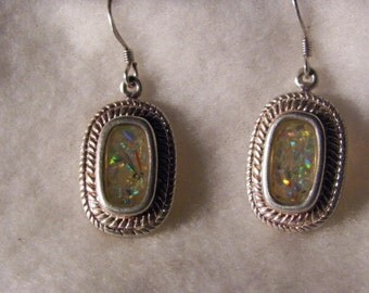 Handmade Vintage Opal Earrings From Israel