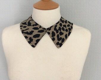 Animal print leopard collar