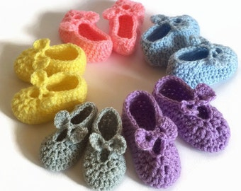 Crochet baby boots baby booties baby slippers crochet Mary Janes shoes Mary Jane slippers pastel colors