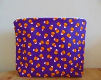 Halloween Candy Corn Zip Bag/ Pouch