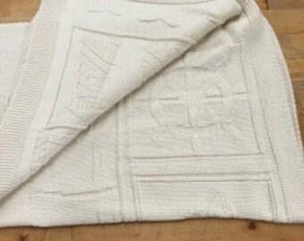 Nautical 100% Natural Cotton Throw Blanket