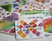 ON SALE NOW! Set of 52 Scripture Memory Cards, Original Watercolor and Hand Lettering, Bible Verse Cards