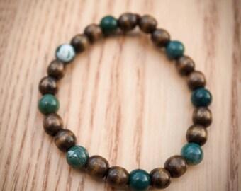 Wood and Gemstone Bracelet 9