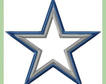 Dallas Cowboys Star Applique - comes in 3,4,5,6,7 inch sizes