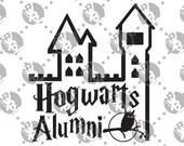 Hogwarts Alumni Decal Harry Potter Hedwig Castle
